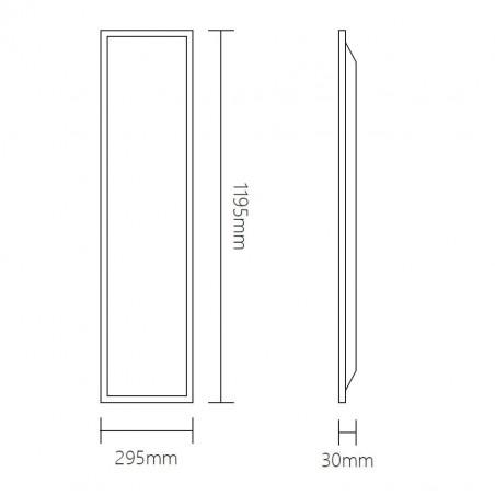 Aufputzrahmen für LED-Panel 62x62 cm weiss