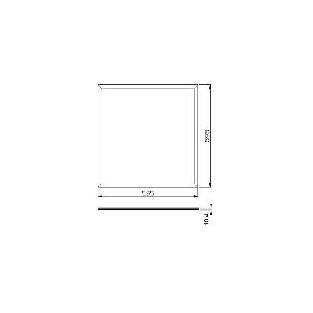 LED Panel  Ø 60 cm - doppleseitig - Rahmen weiss