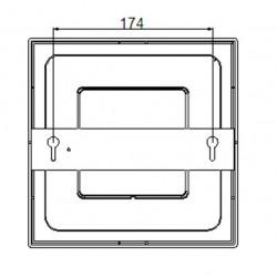 LED Panel  60x60cm - doppelseitig - Rahmen weiss