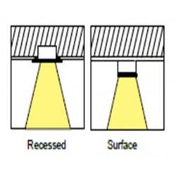 GU10 Spot - rayonnement 30°- 80° réglable
