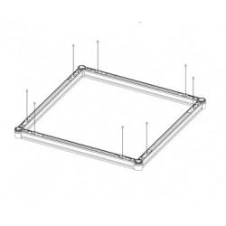 Cadre apparent blanc pour panneau LED 30x30cm