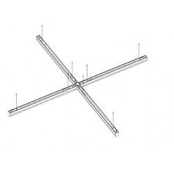 Aufputzrahmen für LED-Panel 120x30 cm weiss